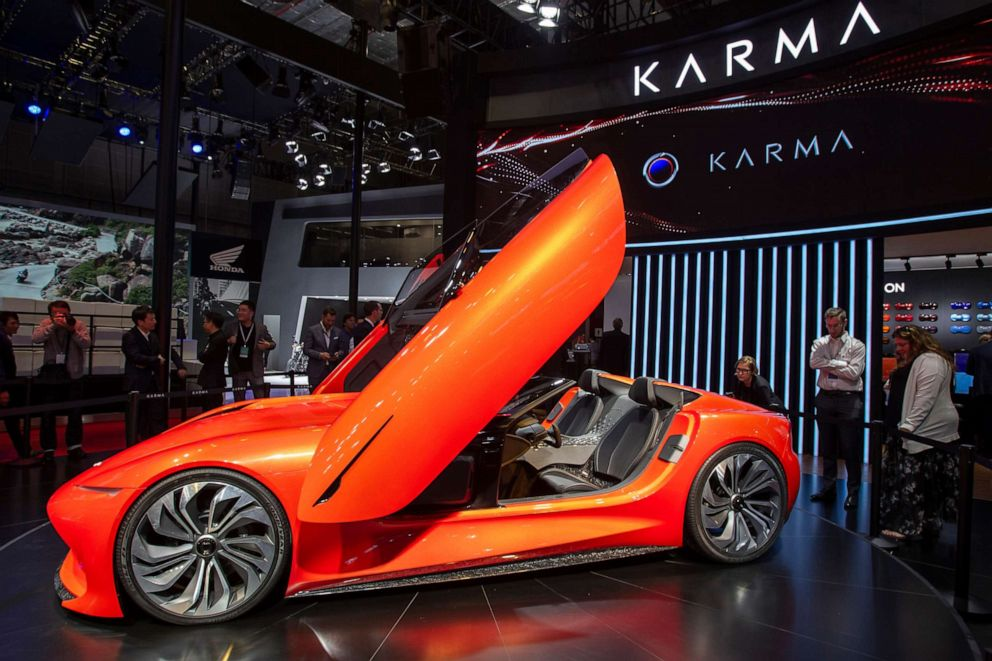 PHOTO: A Karma SC1 Vision Concept car is displayed during the 18th Shanghai International Automobile Industry Exhibition in Shanghai, China, April 16, 2019.