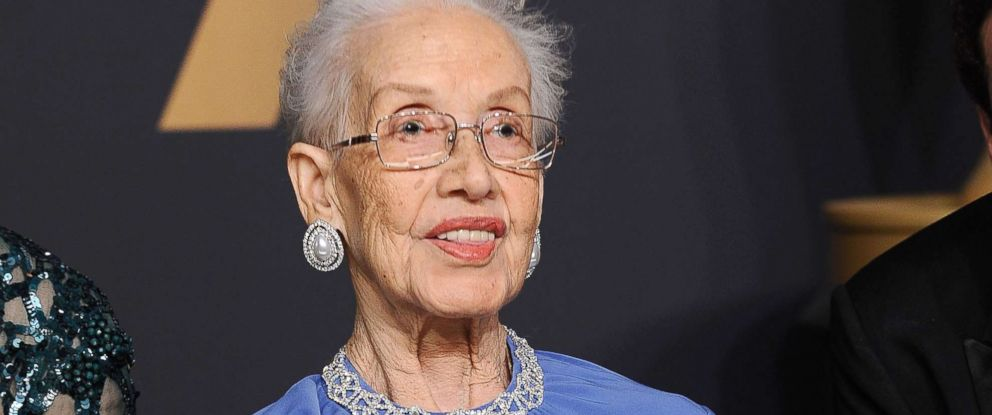 PHOTO: Physicist Katherine Johnson poses in the press room at the 89th annual Academy Awards in Hollywood, Calif., Feb. 26, 2017.