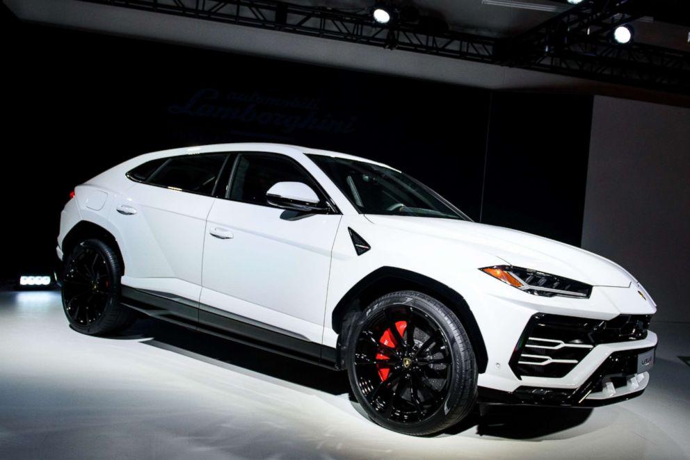 The Lamborghini Urus is seen here.