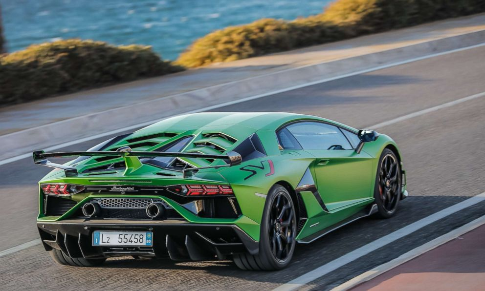 PHOTO: The Lamborghini Aventador SVJ has a naturally-aspirated V12 engine -- a Lamborghini trademark.