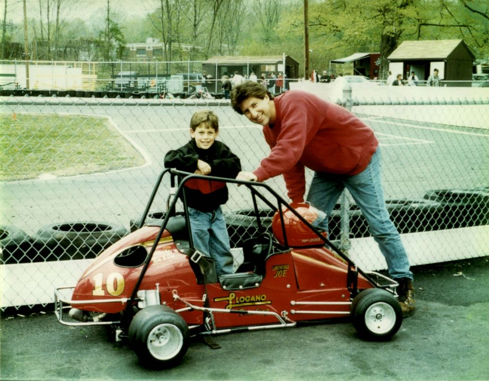 PHOTO: A young Joey Logano and his father Tom in an undated photo.