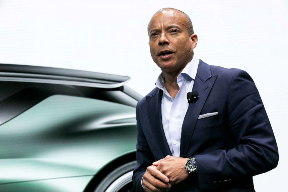 PHOTO: Manfred Fitzgerald, executive vice president and global head of Hyundai Motor Co. Genesis brand, speaks during the 2019 New York International Auto Show (NYIAS) in New York, April 17, 2019.