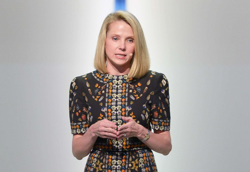 PHOTO: Marissa Mayer speaks onstage at Glamour Women Of The Year 2016 LIVE Summit at NeueHouse Hollywood on Nov. 14, 2016, in Los Angeles.
