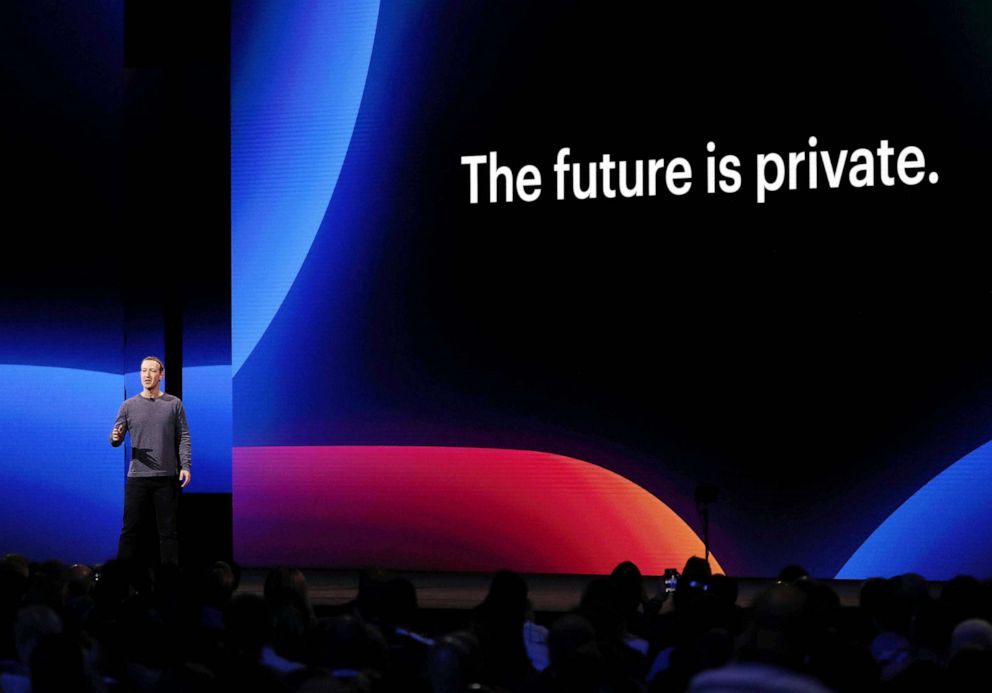 PHOTO: Mark Zuckerberg, CEO and co-founder of Facebook speaks during the keynote F8 Facebook Developer Conference in San Jose, Calif, April 30, 2019.