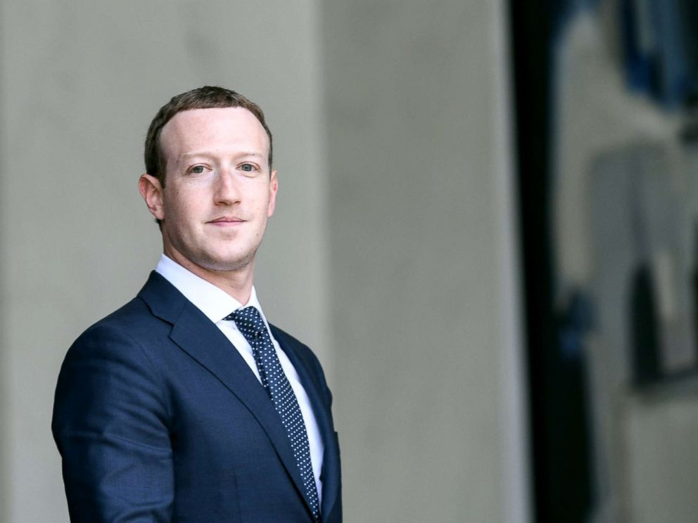 PHOTO: Facebooks CEO Mark Zuckerberg leaves the Elysee presidential palace, in Paris, May 23, 2018.