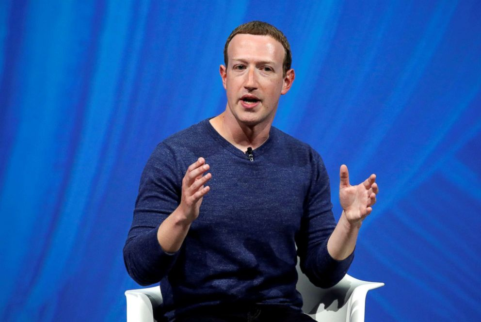 Facebook's founder and CEO Mark Zuckerberg speaks at the Viva Tech start-up and technology summit in Paris, May 24, 2018.
