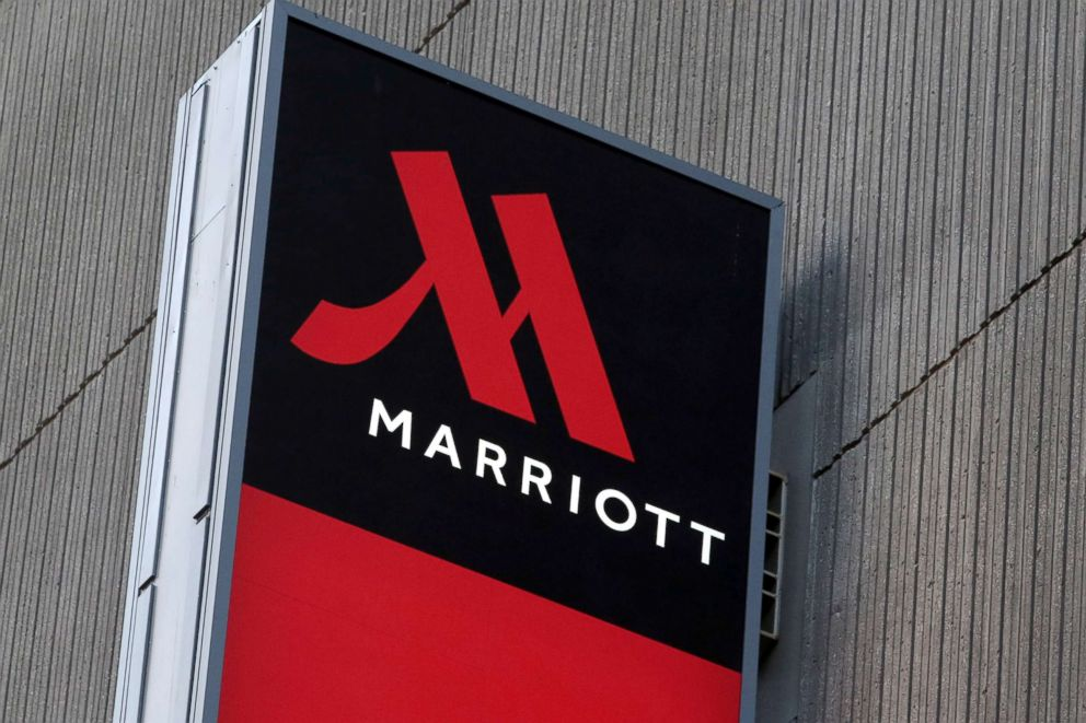 PHOTO: Signage for the New York Marriott Marquis is seen, Nov, 16, 2015.