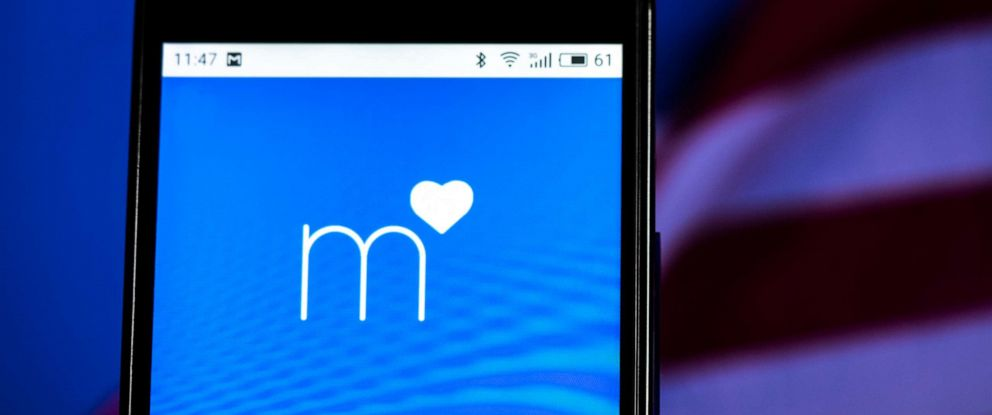 PHOTO: The Match.com logo is displayed on a smartphone.
