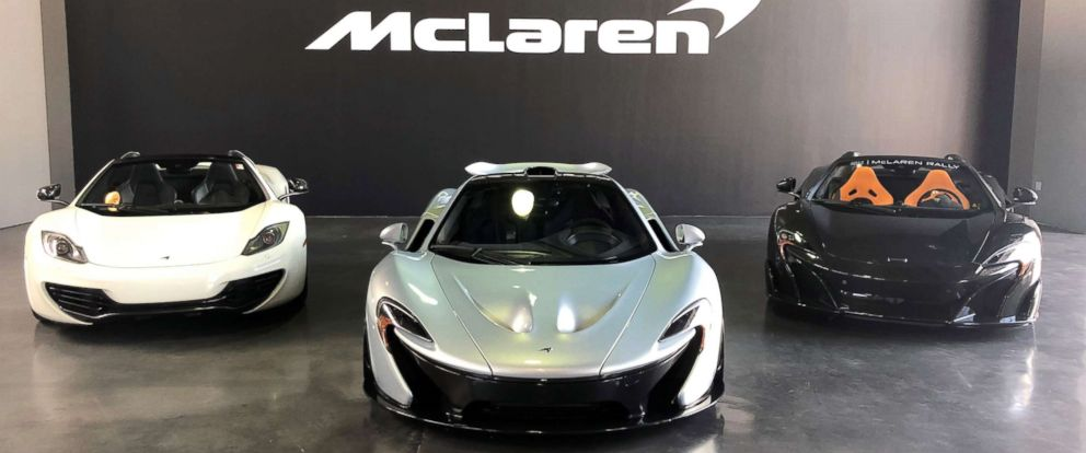 PHOTO: McLaren supercars on display in New York.