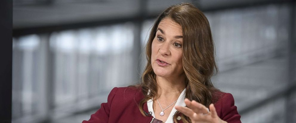 PHOTO: Melinda Gates speaks during an interview at the South By Southwest (SXSW) conference in Austin, Texas, March 11, 2018.