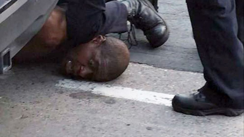 FBI probing death of black man seen pinned down by police, saying, 'I can't breathe' thumbnail