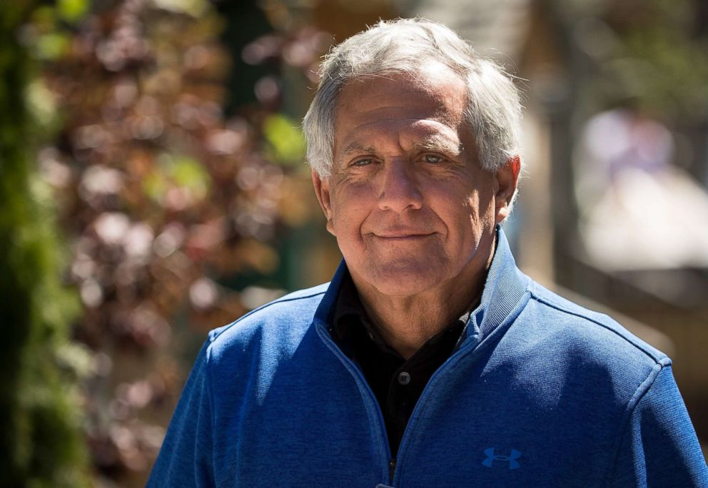 PHOTO: Leslie Les Moonves, president and chief executive officer of CBS Corporation, attends the third day of the annual Allen & Company Sun Valley Conference, July 13, 2017, in Sun Valley, Idaho.
