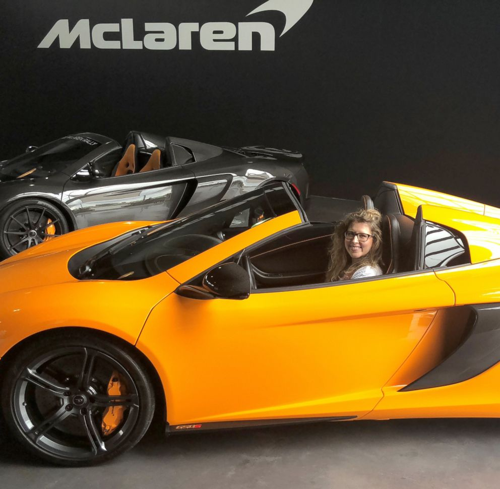 PHOTO: Morgan Korn drove in New York City for the first time in a McLaren 570S Spider.