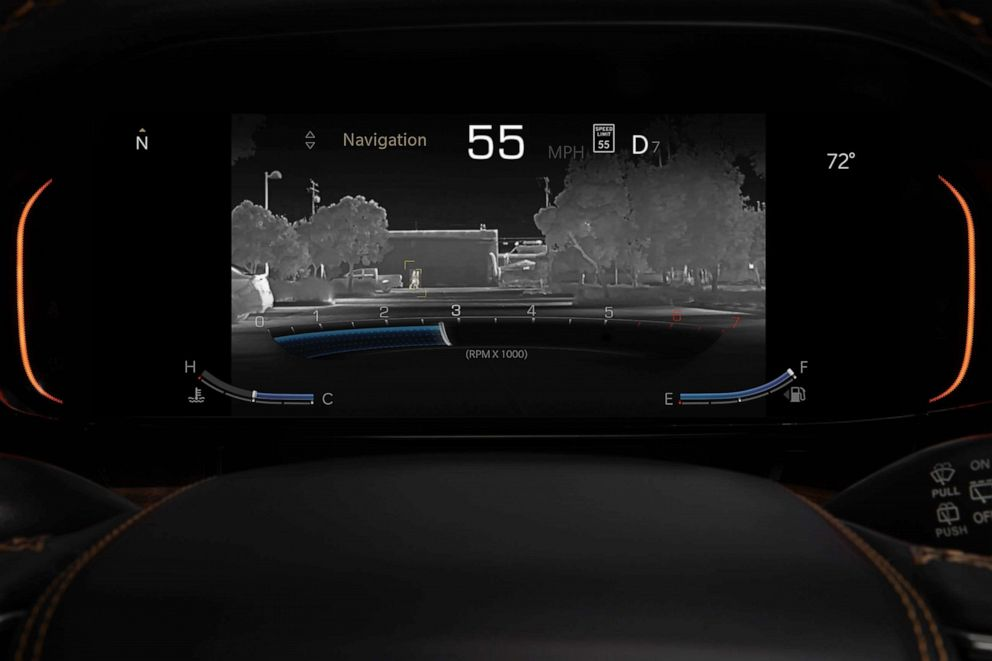 PHOTO: The night vision camera on the 2022 Grand Wagoneer.