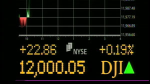 PHOTO Dow reaches its highest level since June 2008