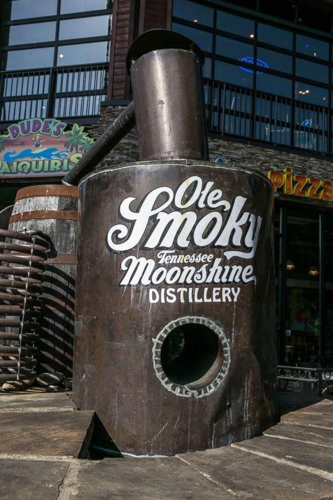 PHOTO: The entrance to the Ole Smoky Tennessee Moonshine Distillery is viewed, May 11, 2018, in Gatlinburg, Tennessee.