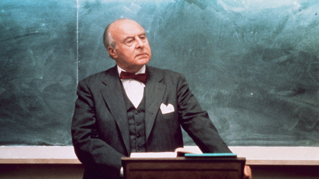 PHOTO: John Houseman in The Paper Chase