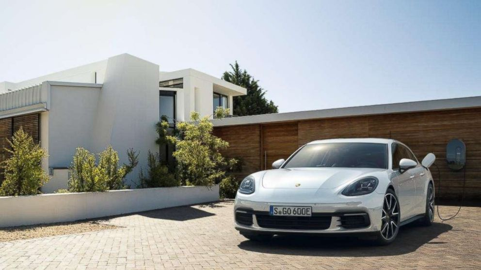 PHOTO: The Porsche Panamera 4 E-Hybrid Sport Turismo has four powertrains: three gasoline and one plug-in hybrid that adds an electric motor to enhance performance.