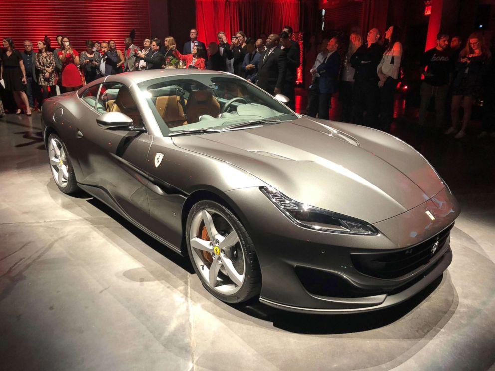 PHOTO: The latest Ferrari model is the Portofino, which has a retractable hardtop roof.