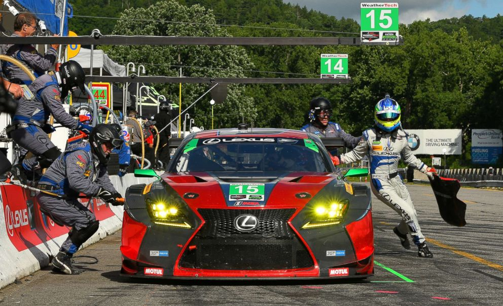 PHOTO: A pit stop at the Lime Rock Park race circuit in Connecticut.