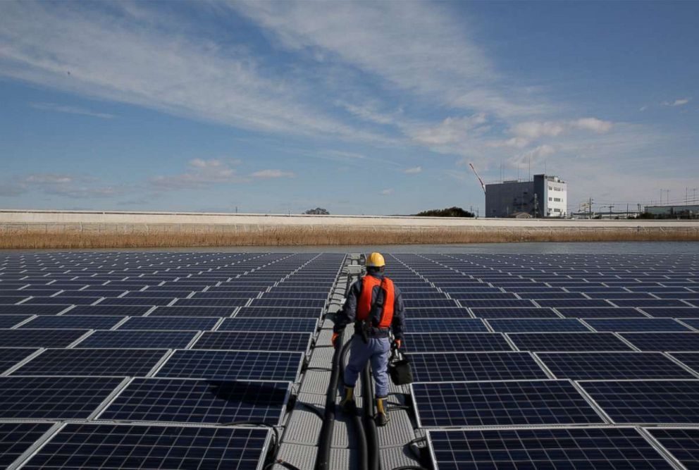 PHOTO: Apple is working with a local solar company in Japan to provide renewable energy for its operations.