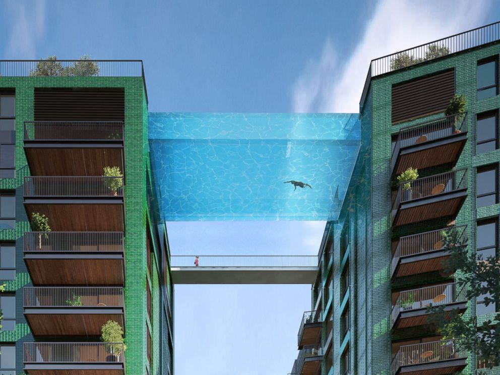 PHOTO: A rendering provided by the developers shows a suspended swimming pool planned for the Embassy Garden development in London.