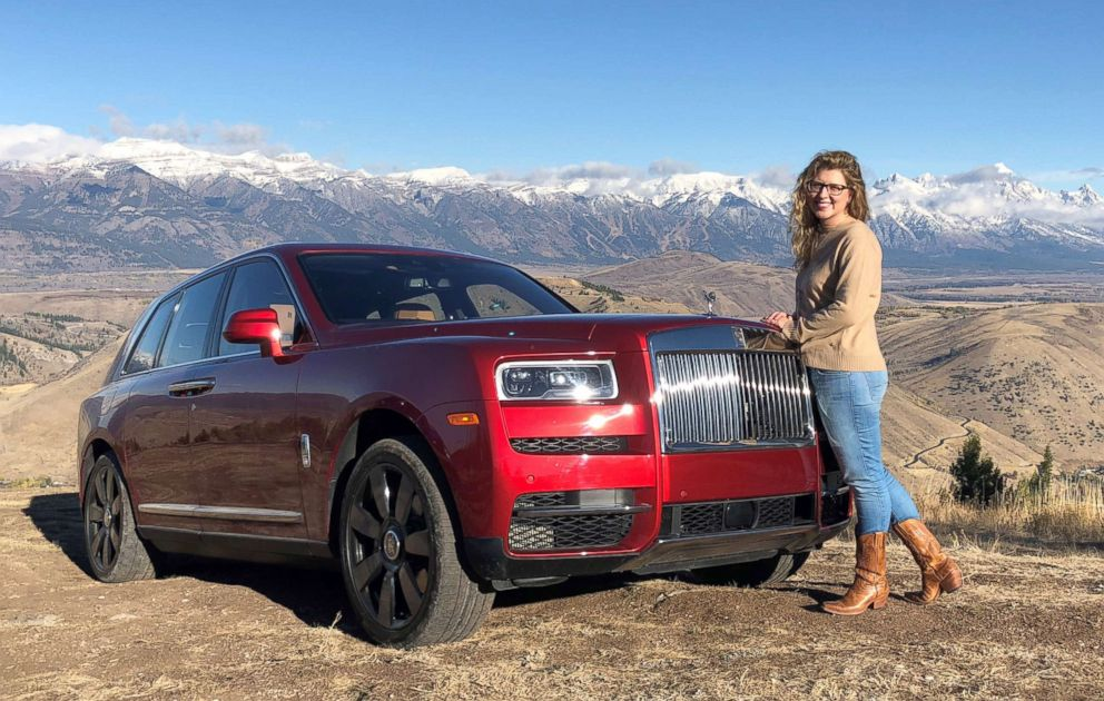 PHOTO: ABC News Morgan Korn test-drives the new Rolls-Royce Cullinan SUV in Jackson Hole, Wyo.