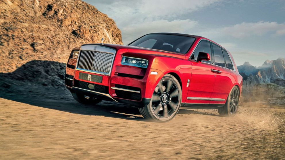 The Rolls-Royce Cullinan SUV is pictured in an undated handout image.