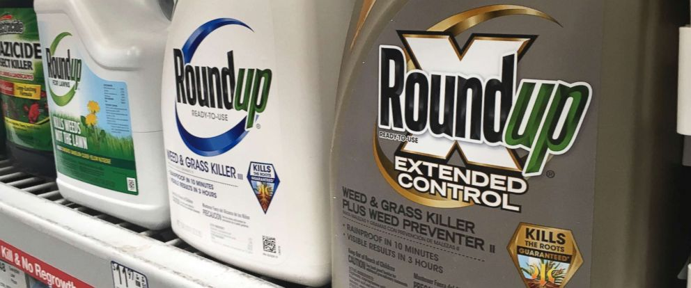 PHOTO: Containers of Roundup are displayed on a store shelf in San Francisco, Feb. 24, 2019. A jury in federal court in San Francisco has concluded that Roundup weed killer was a substantial factor in a California mans cancer.