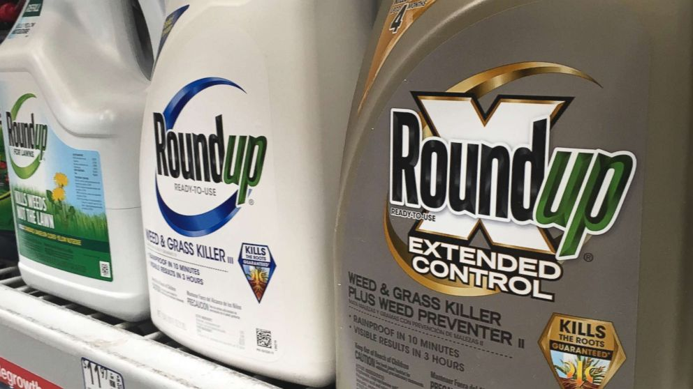 Containers of Roundup are displayed on a store shelf in San Francisco, Feb. 24, 2019. A jury in federal court in San Francisco has concluded that Roundup weed killer was a substantial factor in a California man's cancer.