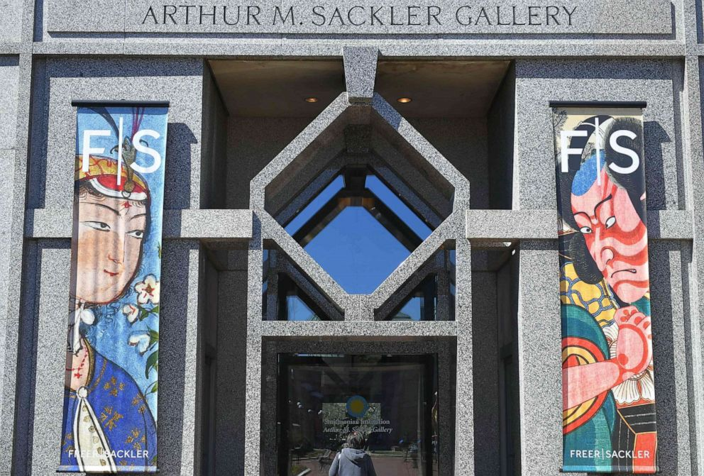 PHOTO: An entrance to the Arthur M. Sackler Gallery is seen in Washington, D.C., March 26, 2019.
