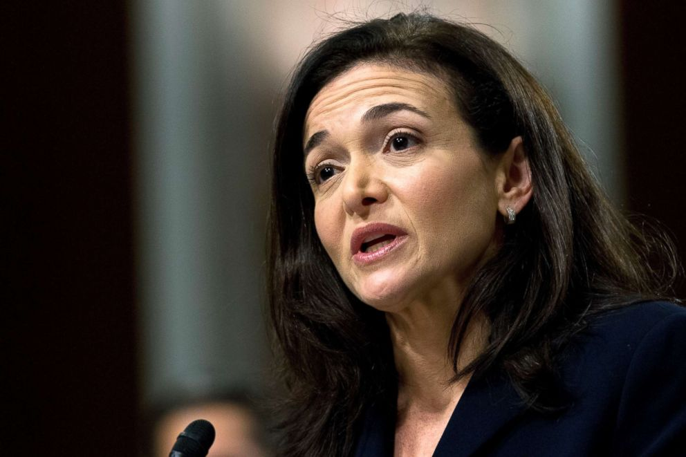 Facebook COO Sheryl Sandberg testifies before the Senate Intelligence Committee hearing on Capitol Hill in Washington Sept. 5 2018