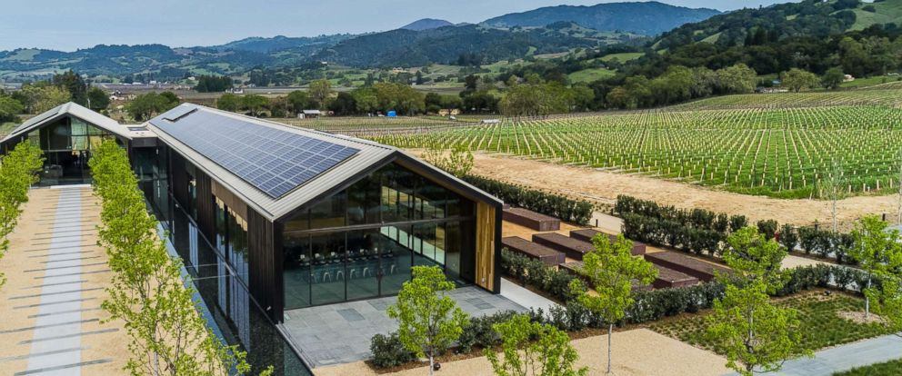 PHOTO: Silver Oaks Alexander Valley winery opened this spring. Its LEED Platinum certified.