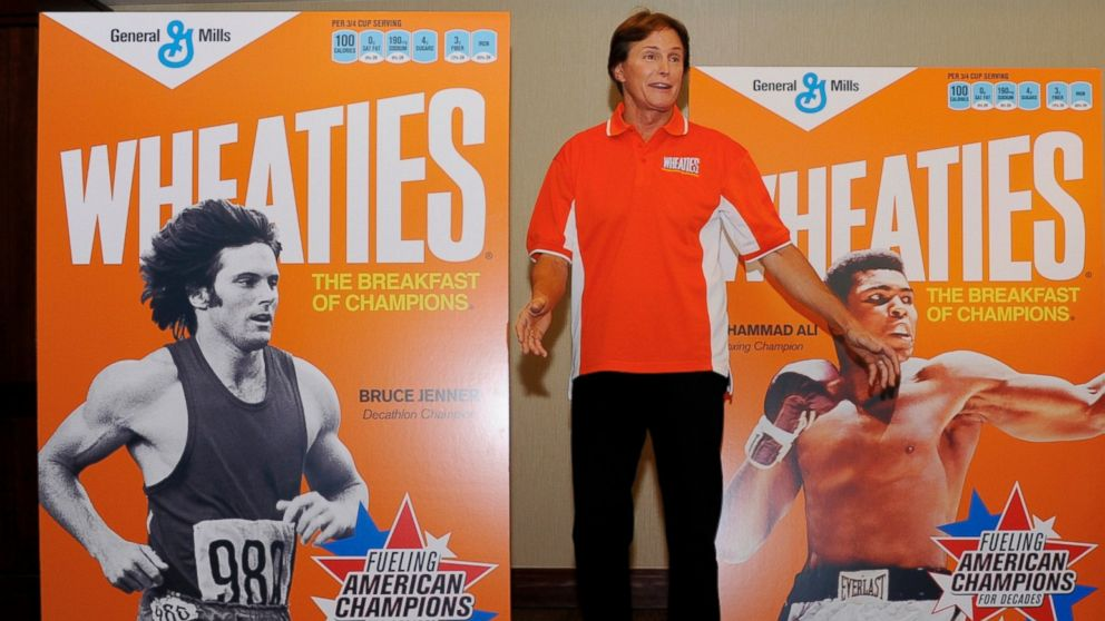 Bruce Jenner appears at an event to unveil three retro Wheaties boxes at the Westin Bonaventure in Los Angeles on Feb. 15, 2012.