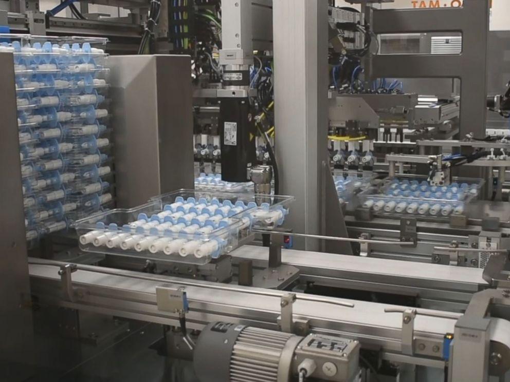 PHOTO: The esketamine nasal spray Spravato is manufactured by Janssen Pharmaceutical Companies of Johnson and Johnson.