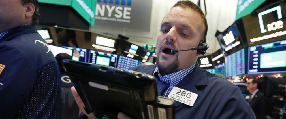 PHOTO: Trader Michael Milano works on the floor of the New York Stock Exchange, Nov. 28, 2018.