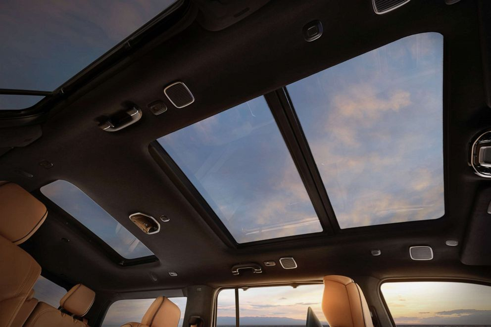 PHOTO: The 2022 Grand Wagoneer features a tri-pane sunroof that gives occupants a sense of larger space and brings in natural light.