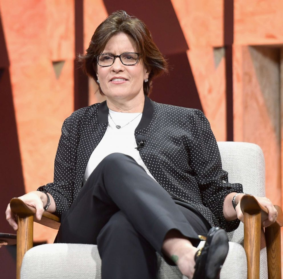 PHOTO: Executive Editor of Recode Kara Swisher speaks onstage during Vanity Fair New Establishment Summit, Oct. 3, 2017, in Beverly Hills, Calif.