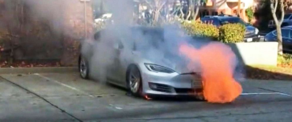 PHOTO: A Tesla owner in Northern California says his Model S caught fire twice on the same day.