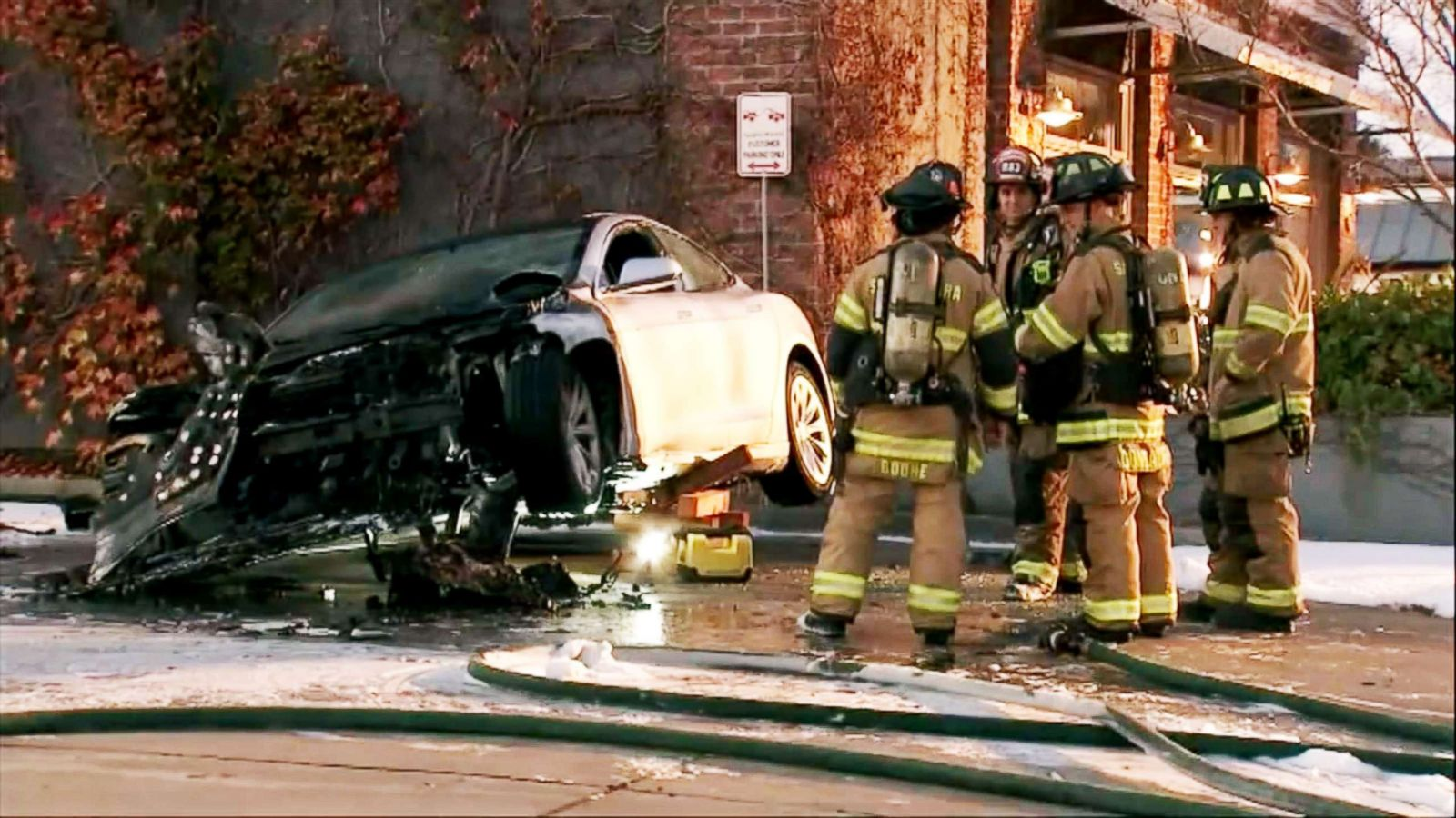 Firefighters work 16 hours to put out fires in Tesla Model S