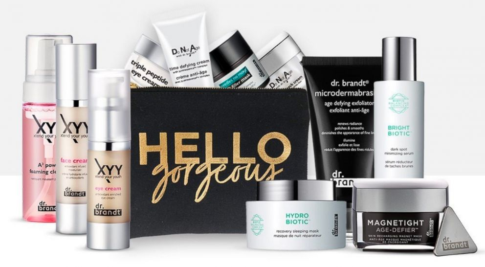 PHOTO: Dr. Brandt skincare products