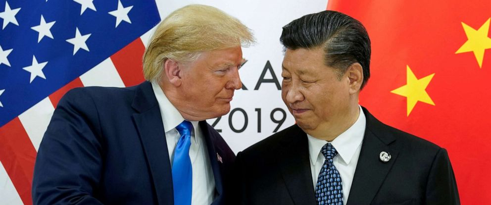 PHOTO: President Donald Trump meets with Chinas President Xi Jinping at the start of their bilateral meeting at the G20 leaders summit in Osaka, Japan, June 29, 2019.