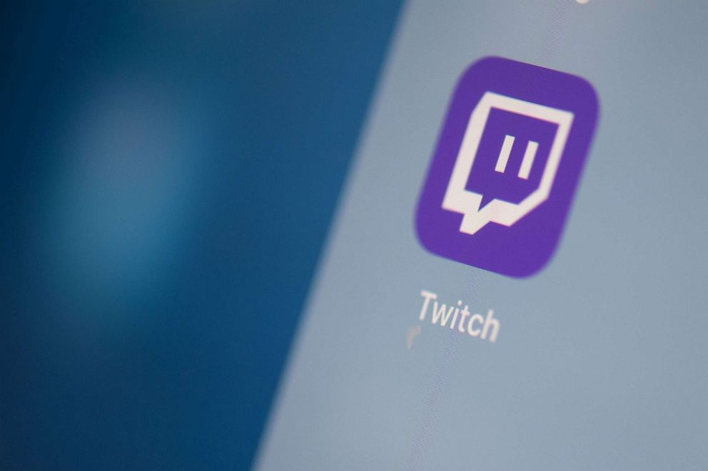 PHOTO: This illustration picture taken on July 24, 2019 in Paris shows the US live streaming video platform Twitch logo application on the screen of a tablet.