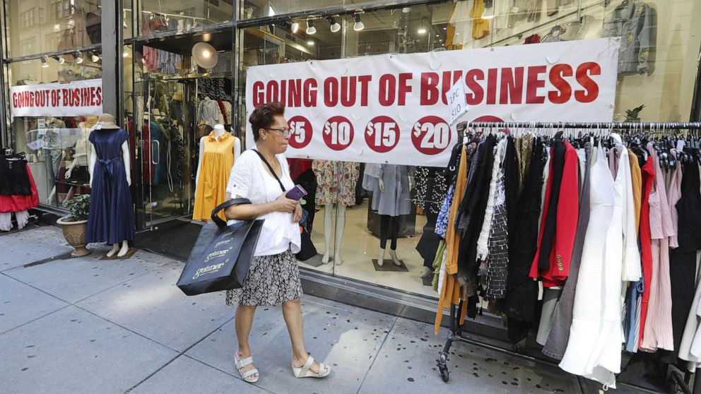 PHOTO: A woman looks at clothes at a clothing store in New York, Sept. 4, 2020.