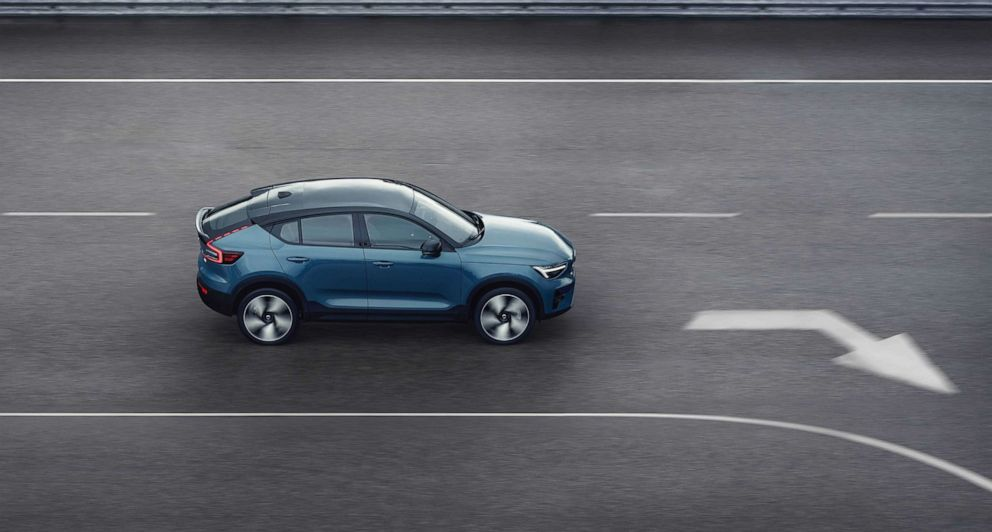 """PHOTO: """"The C40 Recharge represents the future of Volvo and shows where we are going,"""" according to Volvo's chief technology officer."""