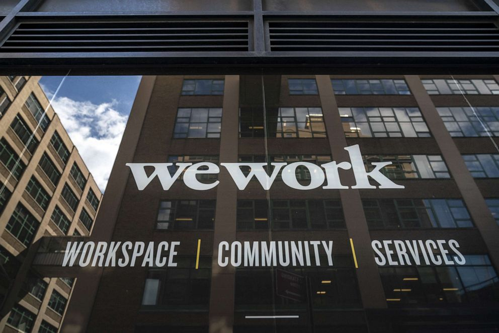 PHOTO: A WeWork office facility in the Brooklyn borough of New York City, Sept.13, 2019.