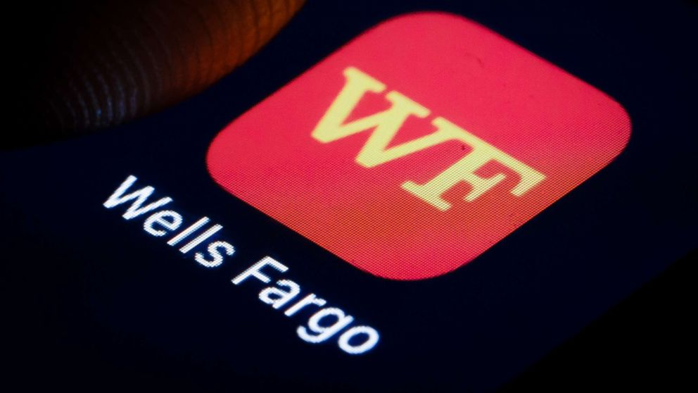 The logo of American multinational financial services company Wells Fargo is displayed on a smartphone on Jan. 02, 2019, in Berlin.