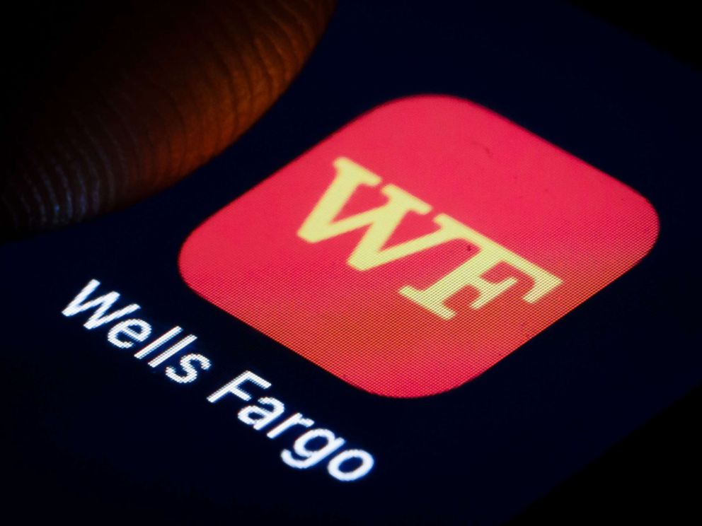PHOTO: The logo of American multinational financial services company Wells Fargo is displayed on a smartphone on Jan. 02, 2019, in Berlin.