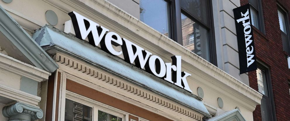 PHOTO: A WeWork office is seen in New York, July 19, 2019.