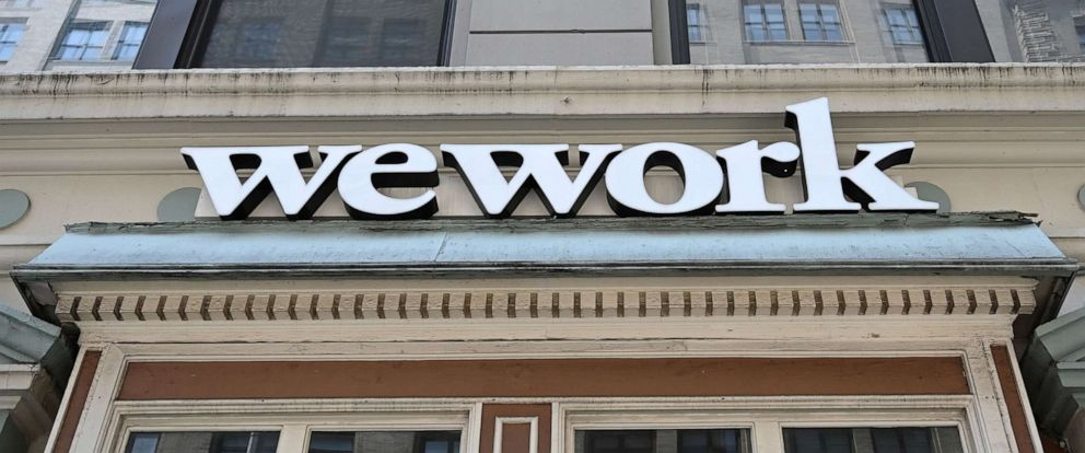 PHOTO: In this July 19, 2019, file photo, a WeWork office is shown in New York.
